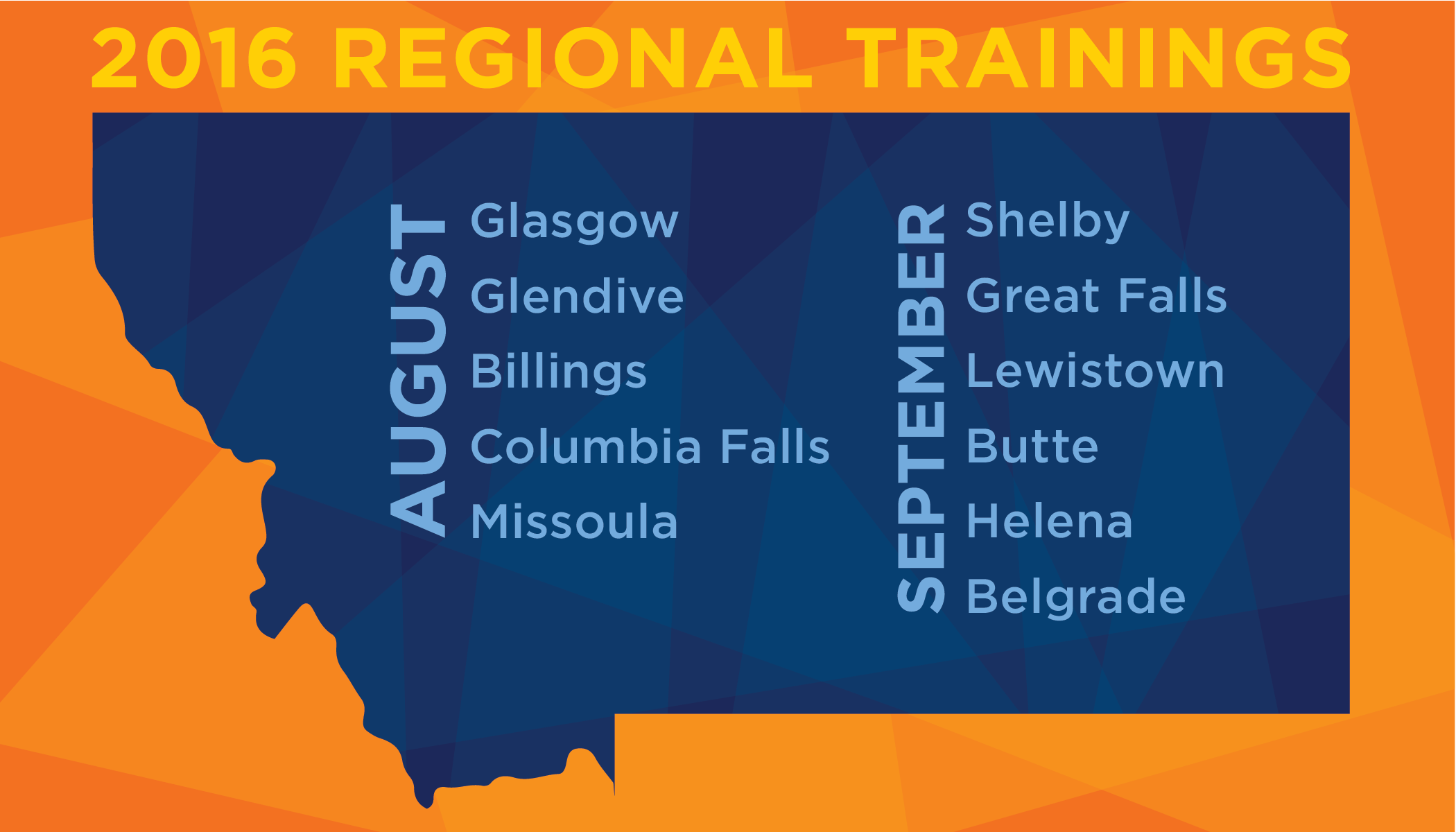 2016 Regional Trainings