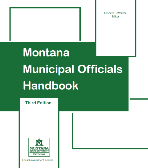 Montana Municipal Officials Handbook Cover